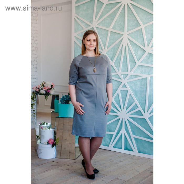 Платье женское Vera Nicco, размер 54 (3XL), рост 168 см, цвет светло-серый (арт. 1673 С+)