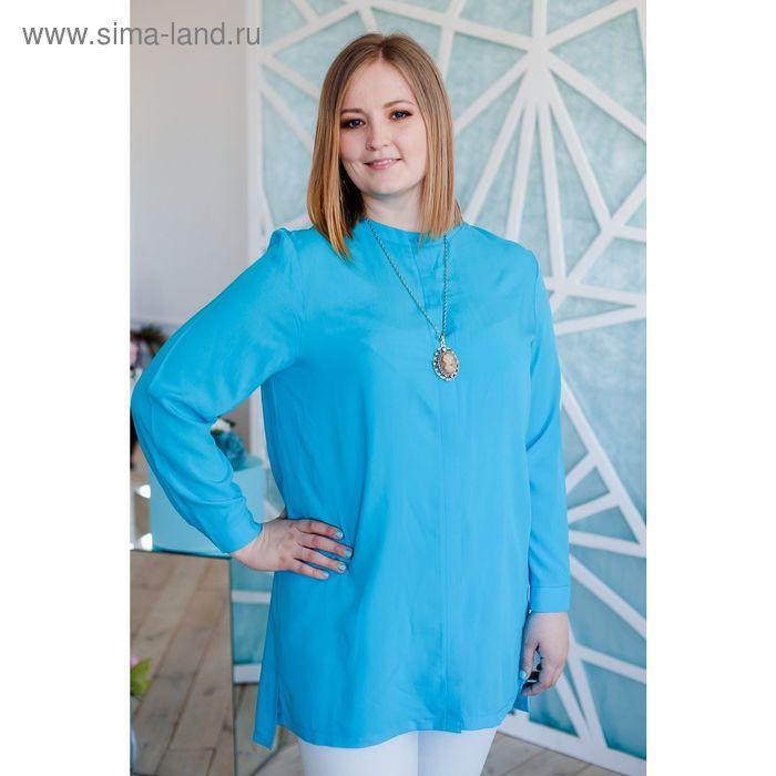 Блузка женская Vera Nicco, размер 50 (XL), рост 168 см, цвет голубой (арт. 1552 С+)