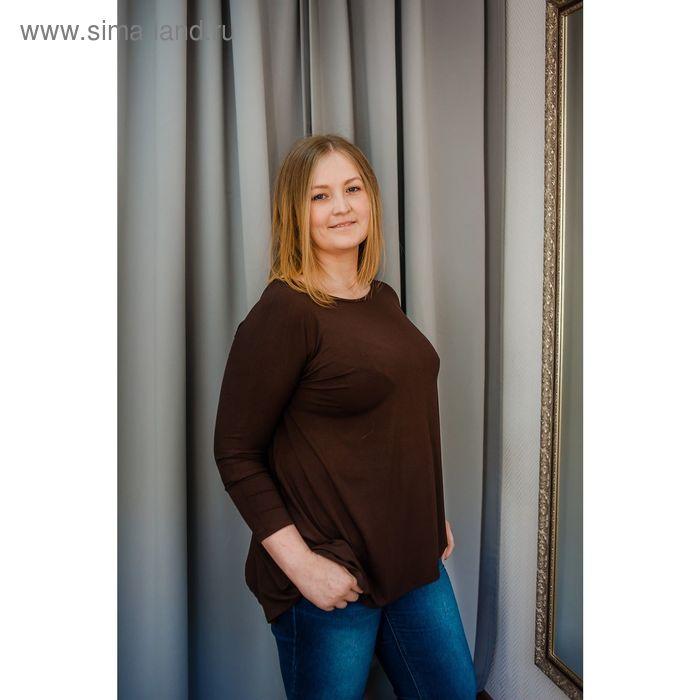 Туника женская Vera Nicco, размер 54 (3XL), рост 168 см, цвет шоколад (арт. 1605 С+)