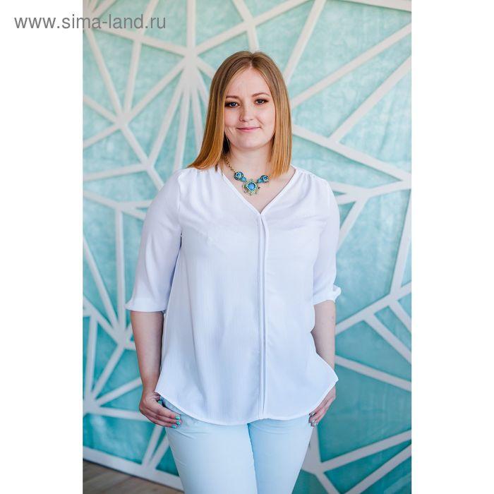 Блуза женская Vera Nicco, размер 54 (3XL), рост 168 см, цвет белый (арт. 1596 С+)