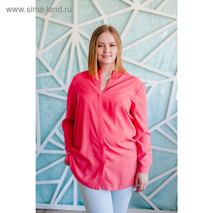 Блузка женская Vera Nicco, размер 54 (3XL), рост 168 см, цвет кораллово-красный (арт. 1552 С+)