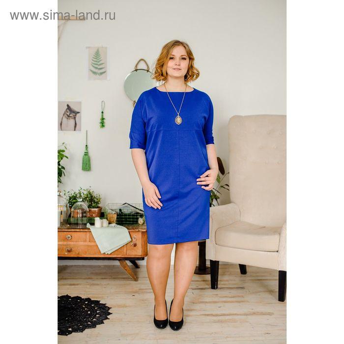 Платье женское Vera Nicco, размер 50 (XL), рост 168 см, цвет синий (арт. 1673 С+)