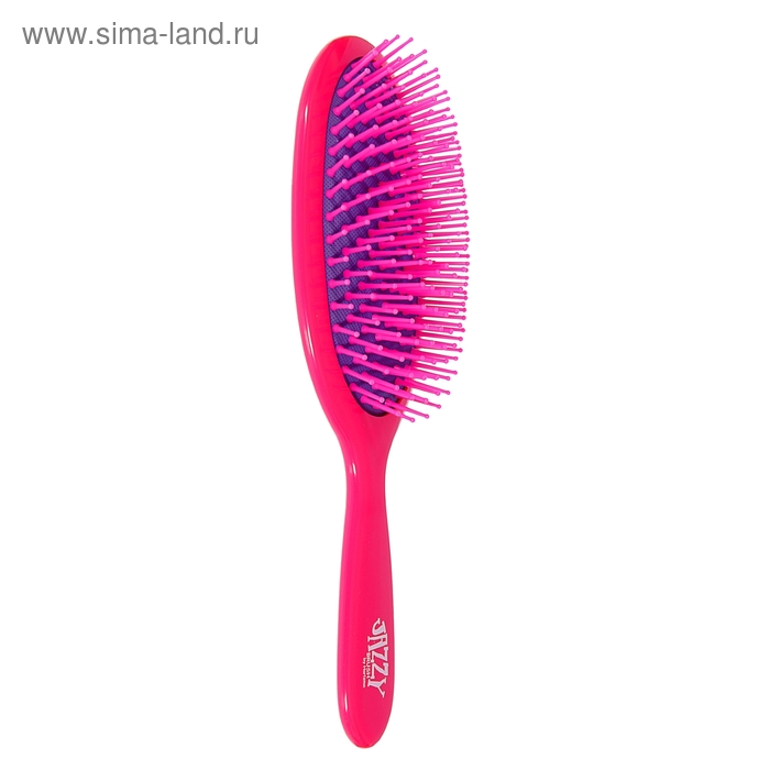 Расчёска массажная овальная, розово-фиолетовый