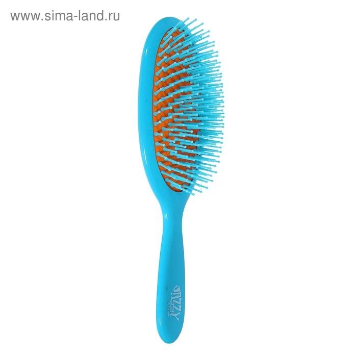 Расчёска массажная овальная, голубо-оранжевый