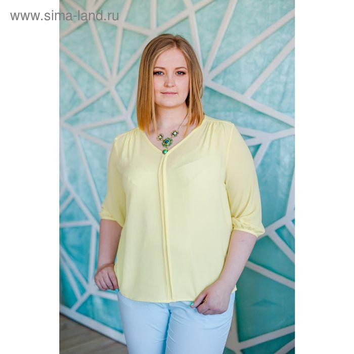 Блуза женская Vera Nicco, размер 52 (2XL), рост 168 см, цвет жёлтый (арт. 1596 С+)