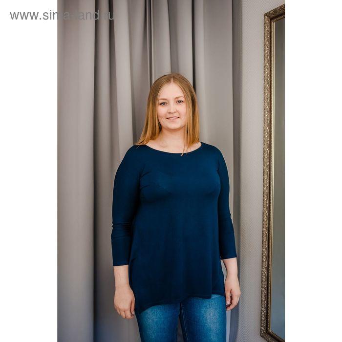 Туника женская Vera Nicco, размер 54 (3XL), рост 168 см, цвет тёмно-синий (арт. 1605 С+)