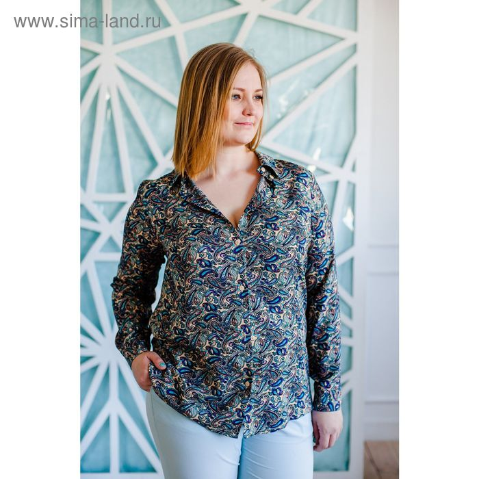 Блузка женская Vera Nicco, размер 50 (XL), рост 168 см, цвет бежевый (арт. 1562 С+)