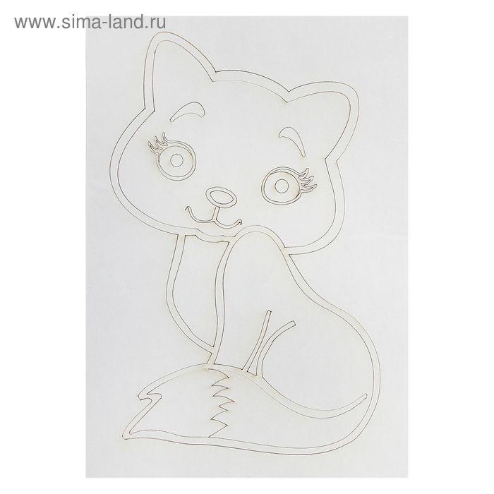 """Трафарет """"Кошка №1"""" A5"""