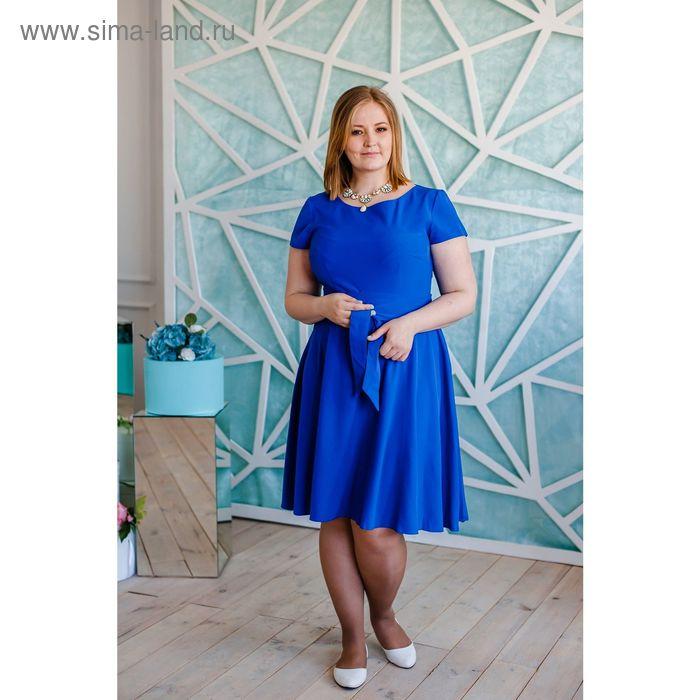 Платье женское Vera Nicco, размер 54 (3XL), рост 168 см, цвет синий (арт. 15731 С+)