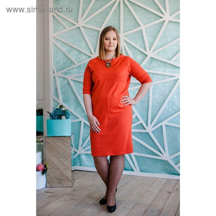 Платье женское Vera Nicco, размер 56 (4XL), рост 168 см, цвет кирпичный (арт. 1673 С+)