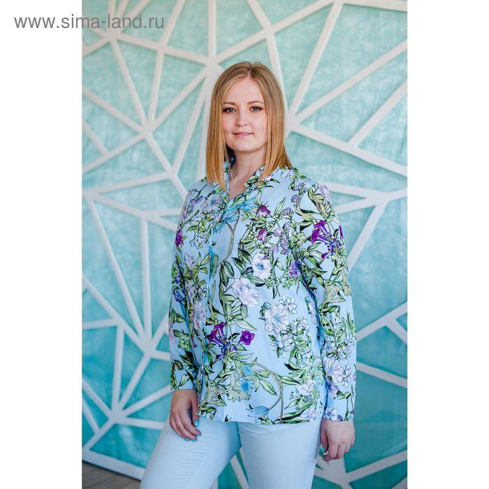 Блузка женская Vera Nicco, размер 50 (XL), рост 168 см, цвет светло-голубой (арт. 1562 С+)