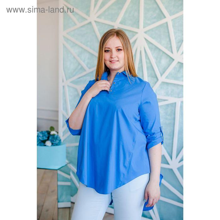 Блузка женская Vera Nicco, размер 50 (XL), рост 168 см, цвет голубой (арт. 1677 С+)