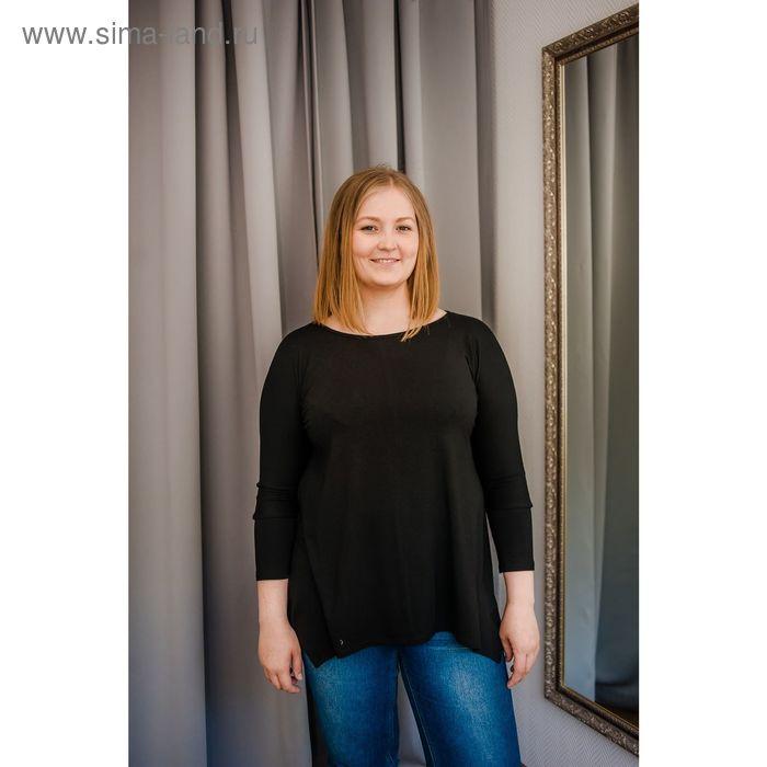 Туника женская Vera Nicco, размер 52 (2XL), рост 168 см, цвет чёрный (арт. 1605 С+)