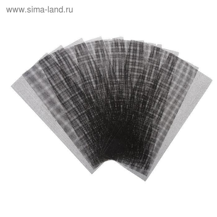 Сетка абразивная TUNDRA basic, корунд, 115 х 280 мм, 10 шт, Р320