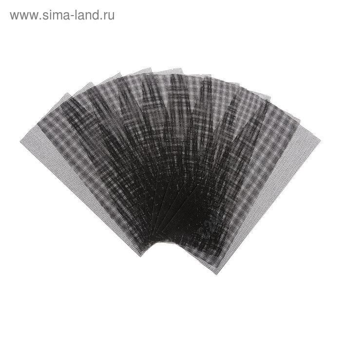 Сетка абразивная TUNDRA basic, корунд, 115 х 280 мм, 10 шт, Р240