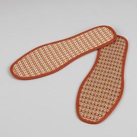 Стельки для обуви, окантовка, 40р-р, пара, цвет коричневый Ош