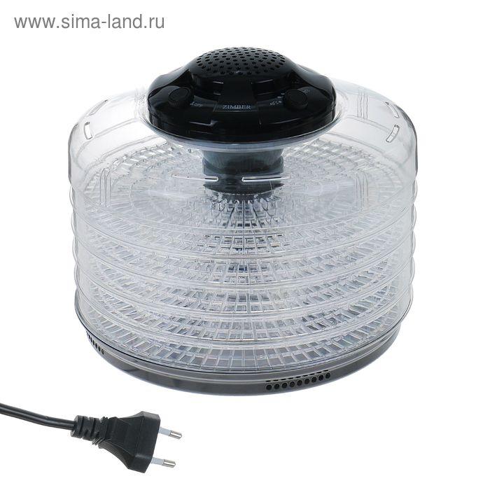 Сушилка-йогуртница Zimber ZM-11026, 350 Вт, 5 секций, 6 стаканов, черная