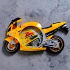 """Часы настенные детские """"Мотоцикл"""", жёлтые"""