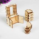 Набор мебели «Ванная» (скамейка, ванна, унитаз, умывальник, шкаф) - фото 105510986