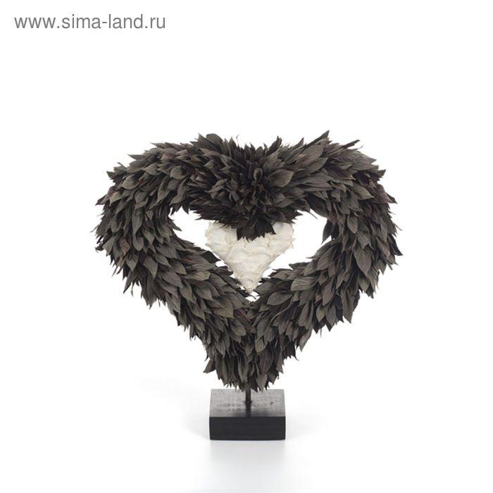 """Декоративная композиция """"Вайдермайер"""" в виде сердца,36 х 14 х 47 см, белый"""