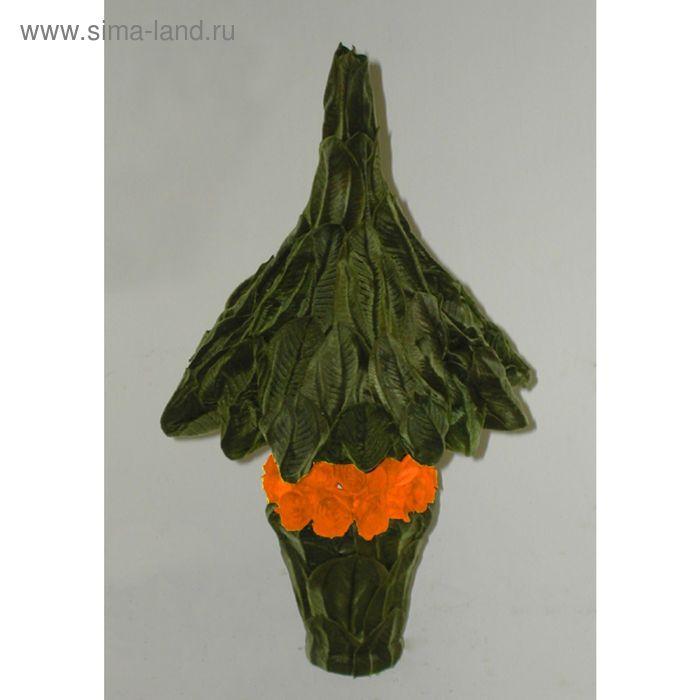 """Декоративная композиция """"Рождественское дерево"""" малое, 22,5 х 22,5 х 40,5 см, оранжевый"""