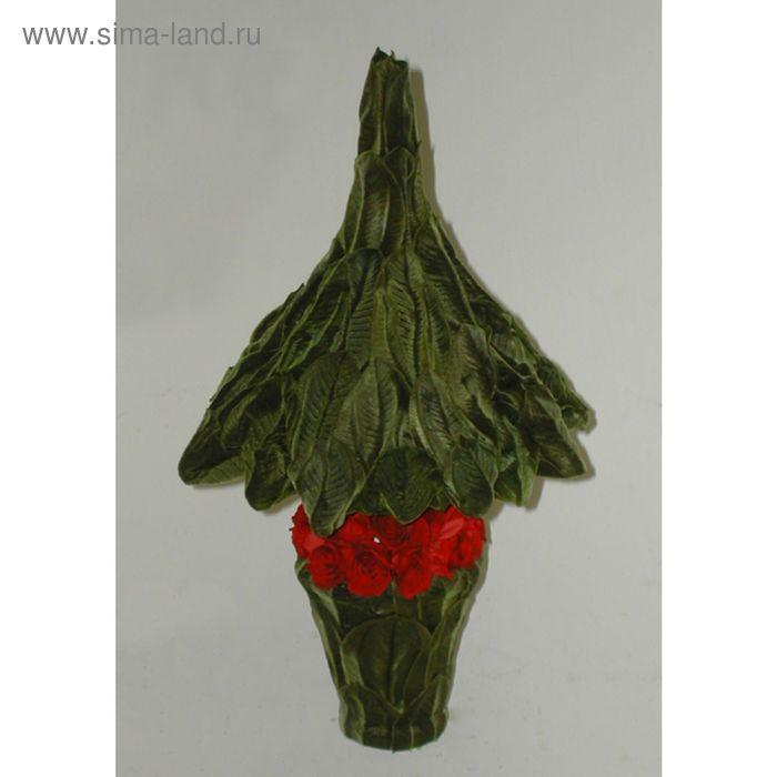 """Декоративная композиция """"Рождественское дерево"""" малое, 22,5 х 22,5 х 40,5 см, красный"""