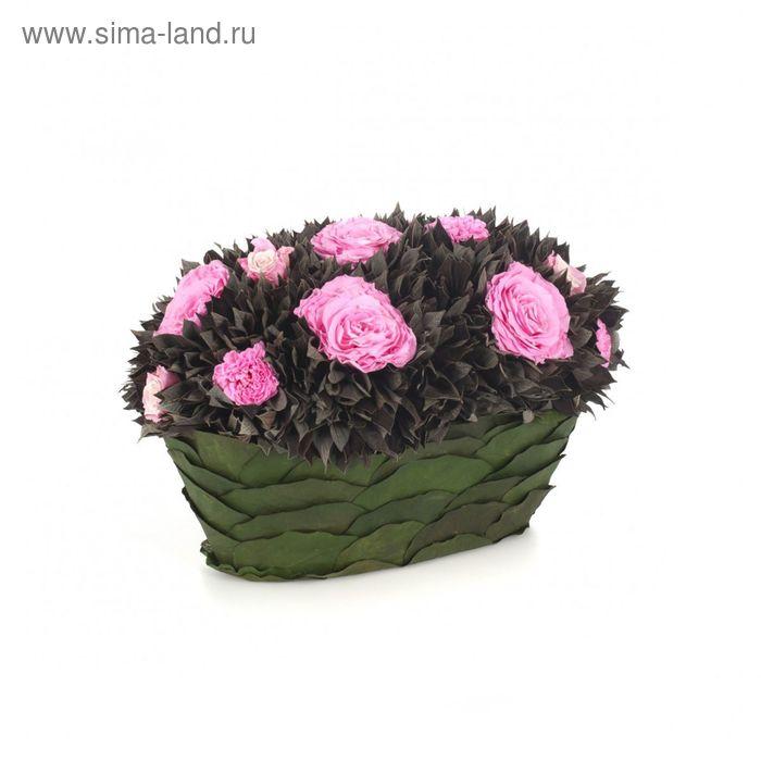 """Декоративная композиция """"Корбайле"""", 35 х 22,5 х 24 см, розовый"""