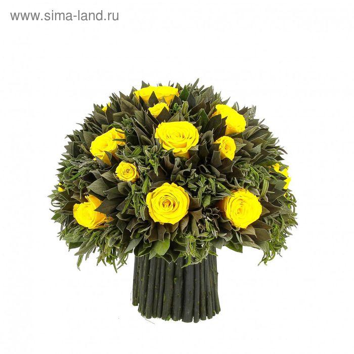 "Декоративная композиция ""Лавандовая"", 29 х 26 х 24 см, желтый"
