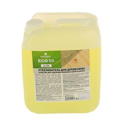 Отбеливатель для древесины Prosept ECO 50, готовый раствор, 5 л