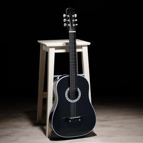Гитара 6-струнная, чёрная, акустическая
