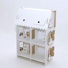 "Кукольный домик из картона ""Четыре комнаты"""