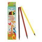 Карандаши пластиковые 6 цветов Centrum Giraffe 177 мм, трёхгранные