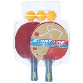 Набор для настольного тенниса, 2 ракетки Level 200, 3 мяча Club Select