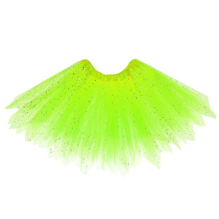 Карнавальная юбка «Блеск», 3-х слойная, 4-6 лет, цвет салатовый
