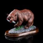 """Сувенир """"Медведь с рыбой"""""""