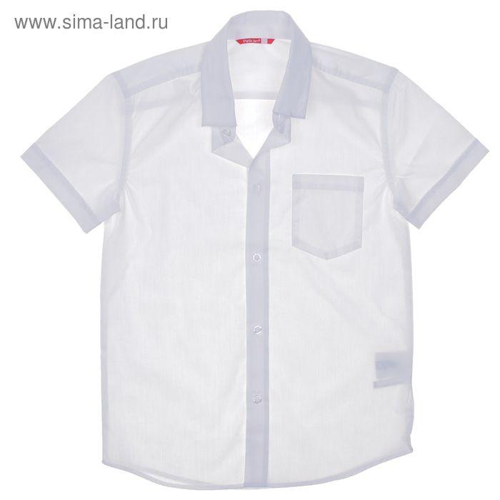 Сорочка для мальчиков, рост 158-164 см, возраст 13 лет, цвет белый (арт. BWTX8013)