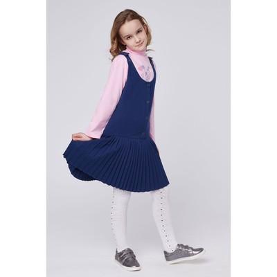 Сарафан для девочек, рост 140-146 см, возраст 10 лет, цвет синий