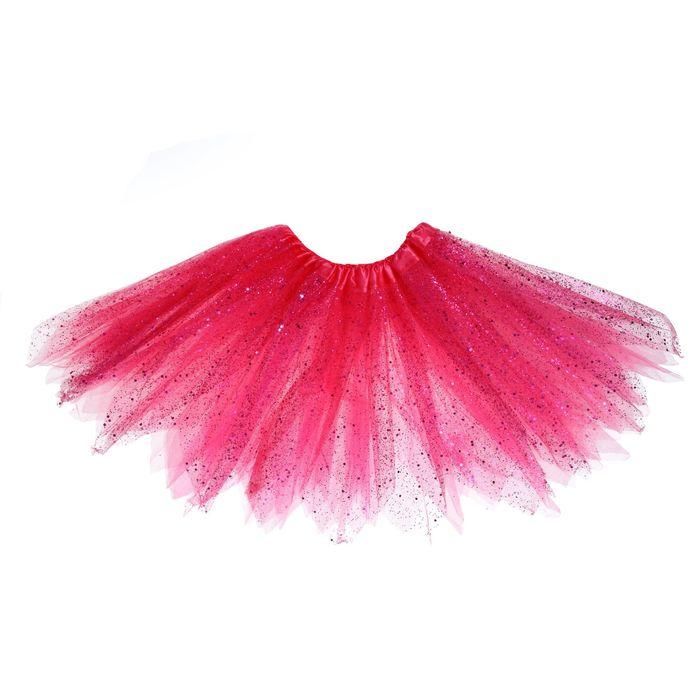 Карнавальная юбка «Блеск», 3-х слойная 4-6 лет, цвет розовый
