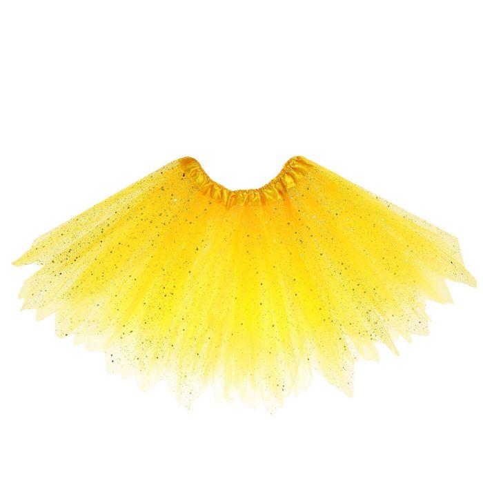 Карнавальная юбка «Блеск», 3-х слойная, 4-6 лет, цвет жёлтый - фото 452158