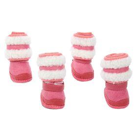 "Boots ""Boots"", set of 4 PCs, size 1 (sole 4.5 x 3.3 cm), pink"
