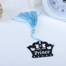 "Souvenir metal bookmark for books/pendant ""Prince"" 6x4. 5 cm"