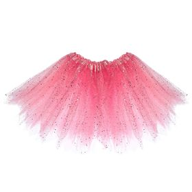 "Carnival skirt ""Glitter"", 3-ply 4-6 years, color pink"