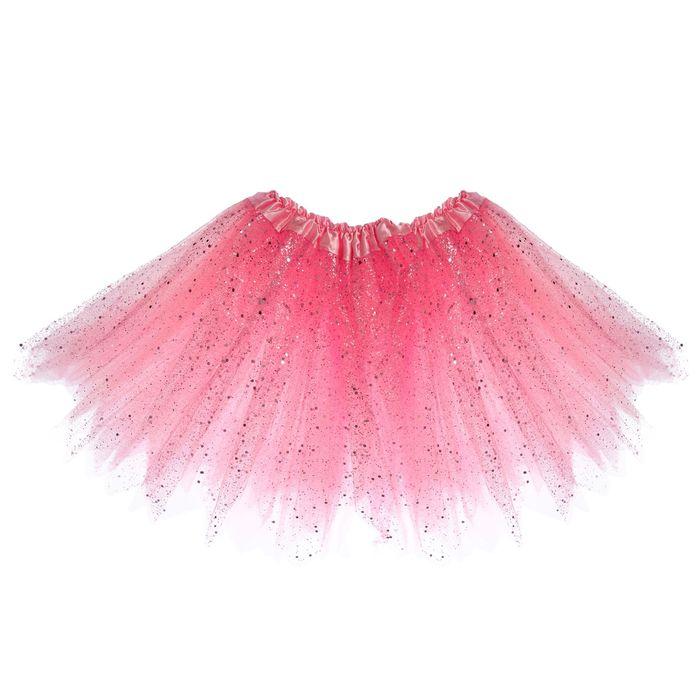 Карнавальная юбка «Блеск», 3-х слойная, 4-6 лет, цвет розовый