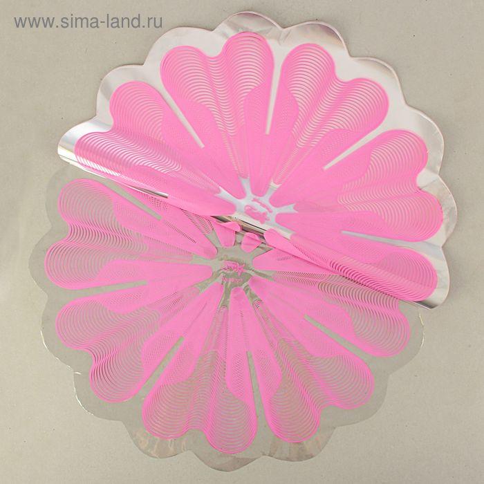 """Салфетка для цветов """"Медуза"""" розовый, 60 см, 35 мкм"""