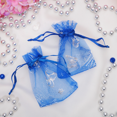Pouch gift Butterfly 7*9, color blue