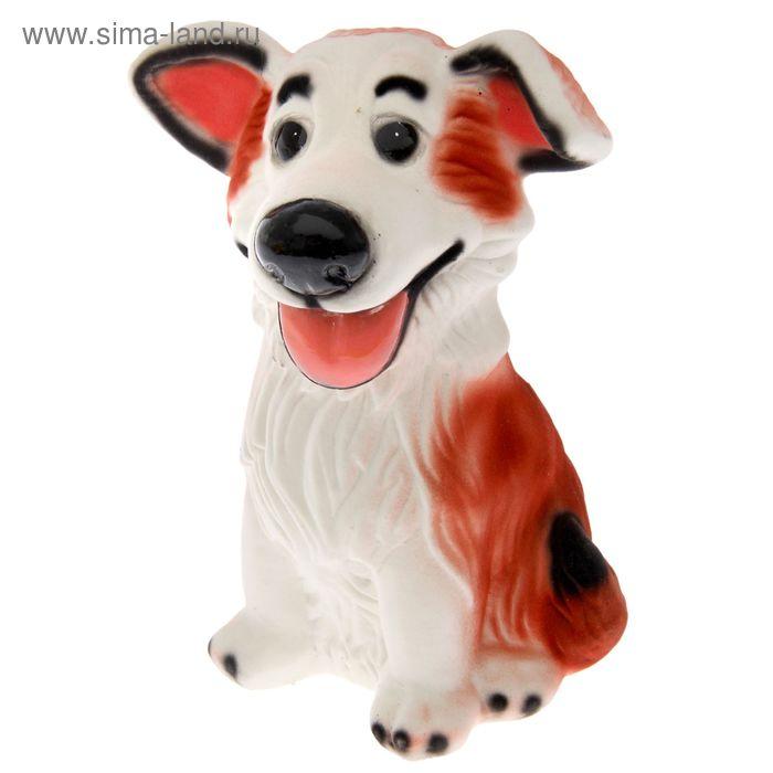 """Копилка """" Собака Джек"""" флок, рыжая"""