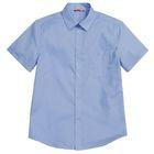 Сорочка для мальчиков, рост 158-164 см, возраст 13 лет, цвет голубой