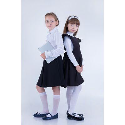 Юбка для девочек, рост 128-134 см, возраст 8 лет, цвет чёрный
