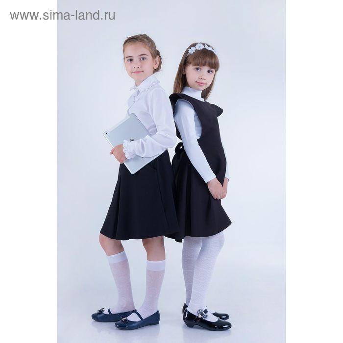Юбка для девочек, рост 128-134 см, возраст 8 лет, цвет чёрный (арт. GS7030)