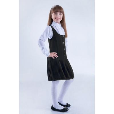 Сарафан для девочек, рост 158-164 см, возраст 13 лет, цвет серый